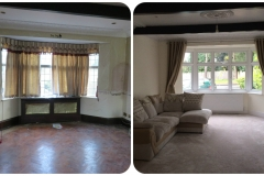Before and after - Front room
